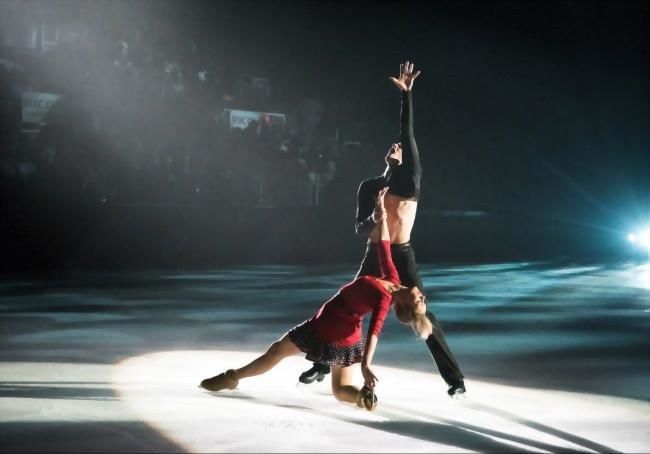 Performers at the CNE Ice Show in the Coca Cola Coliseum.