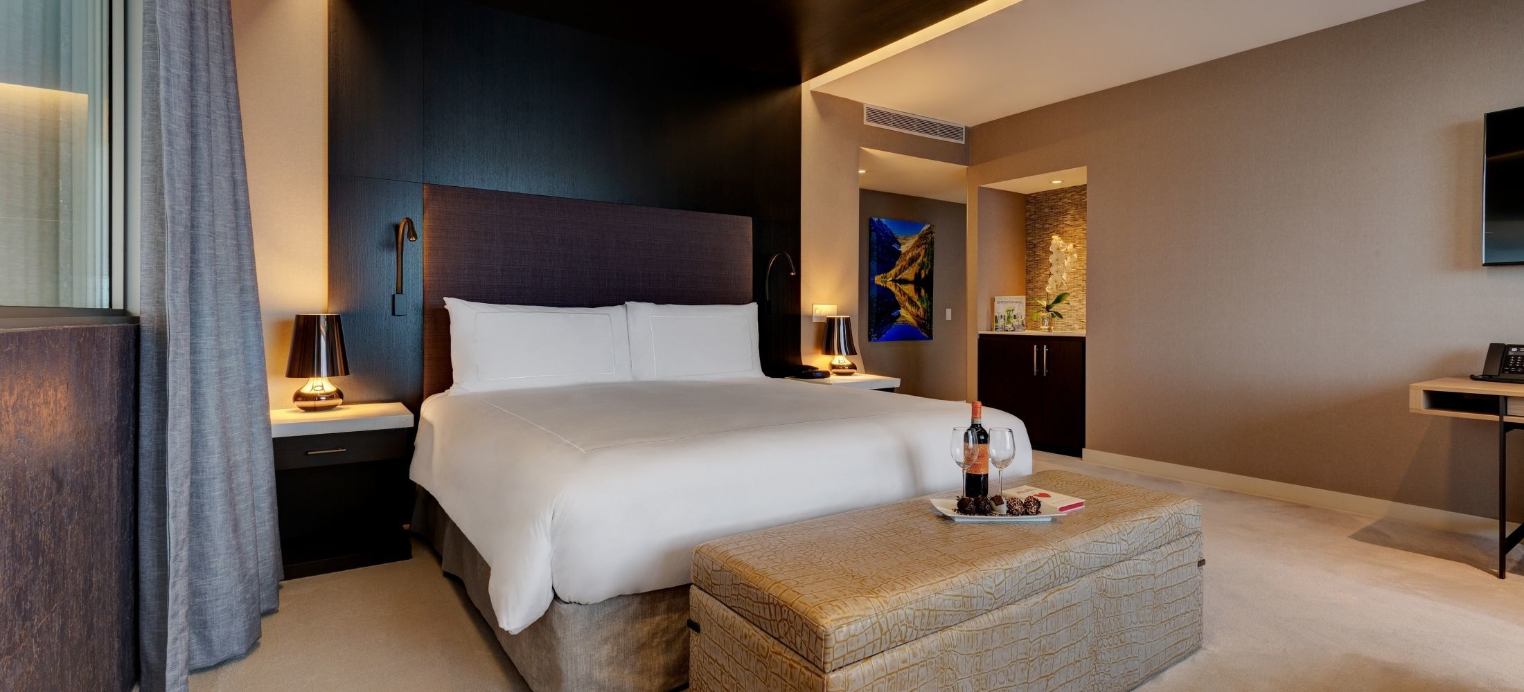Multiple room suites with customizable combinations are available to guests to choose from.